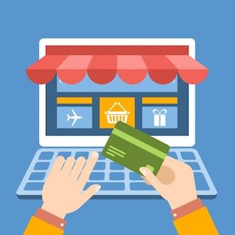 Koop on line per credit card