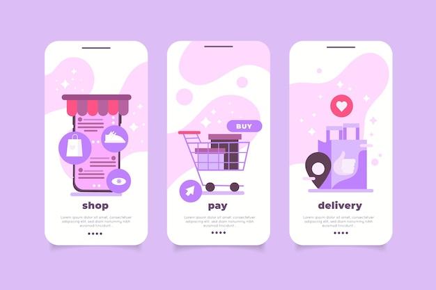 Koop online app-interfacecollectie