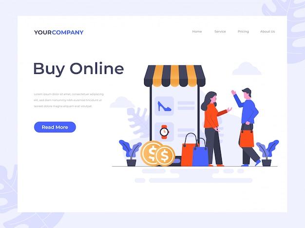 Koop online bestemmingspagina