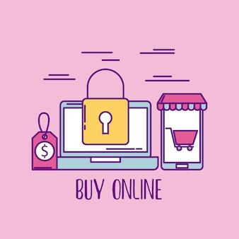 Koop online laptop beveiligingsprijs winkelende marktzaken