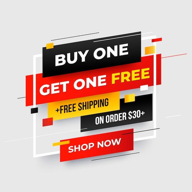 Koop1 get1 korting 50 korting bannerontwerp promo banner grafisch ontwerp