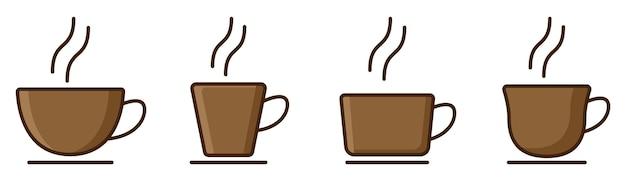 Kop koffie logo instellen