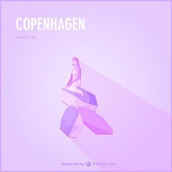 Kopenhagen oriëntatiepunt vector