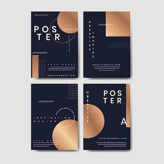 Koperen poster set