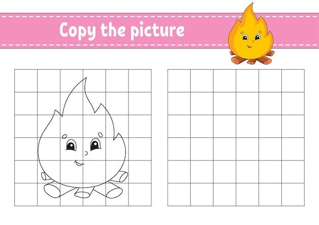 Kopieer de afbeelding kleurboekpagina's voor kinderen