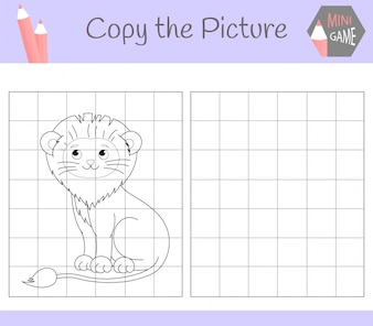 Kopieer de afbeelding: schattige leeuw