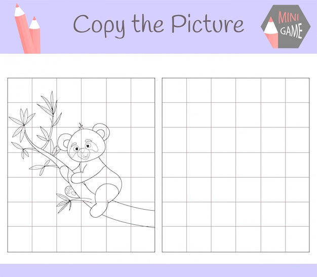 Kopieer de afbeelding: schattige panda