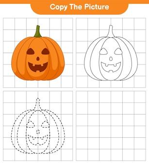 Kopieer de afbeelding, traceer en kleur, educatief kinderspel, printbaar werkblad, illustratie