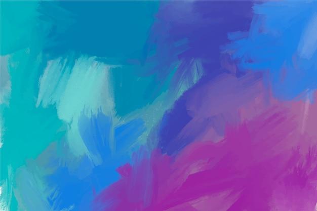 Kopieer de ruimte koude kleuren handgeschilderde achtergrond