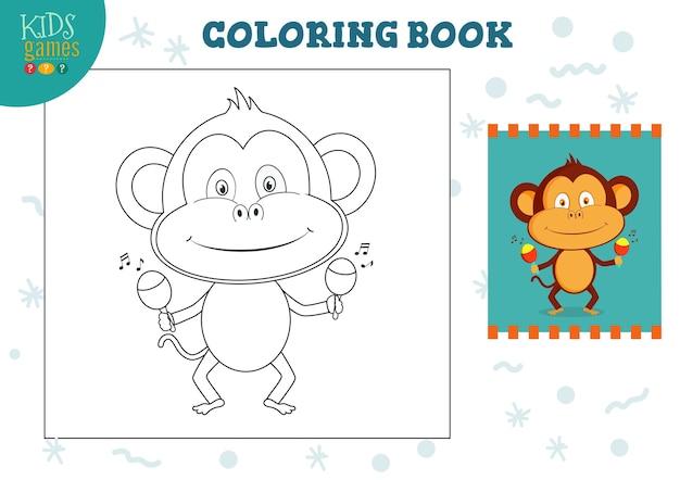 Kopieer en kleur de oefening van de afbeelding