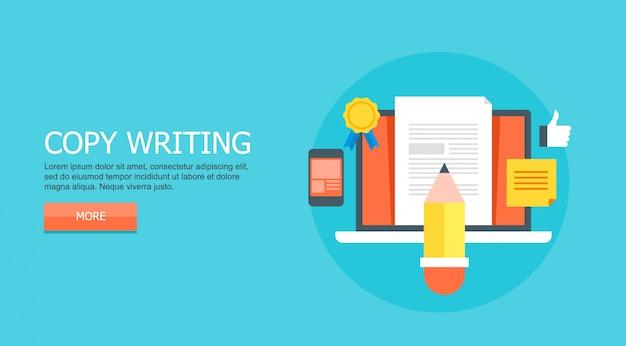 Kopieer het schrijven concept