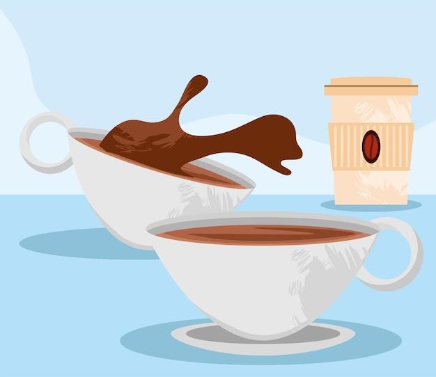 Kopjes en wegwerpkoffie