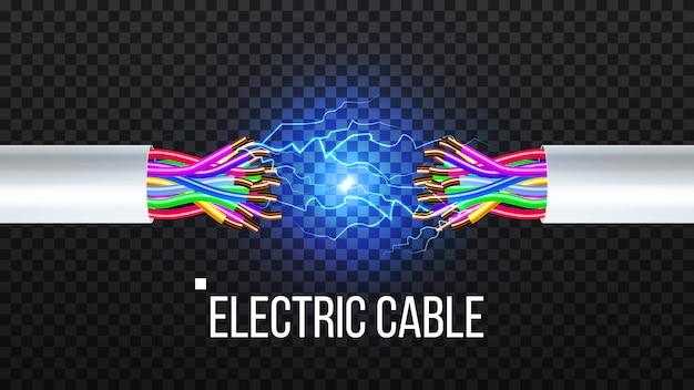 Koppel de elektrische kabel los