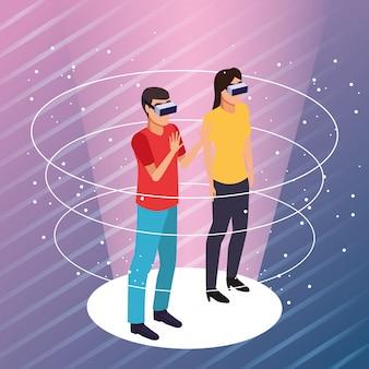 Koppel het spelen met virtuele werkelijkheid