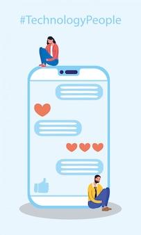 Koppel technologie met smartphonetekens