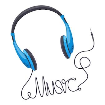 Koptelefoon muziek concept