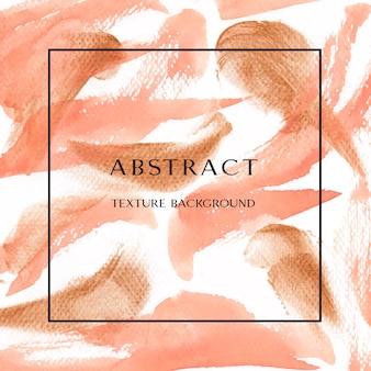 Koraal kleur trendy zee schelp aquarel en goud gouache textuur achtergrond print behang