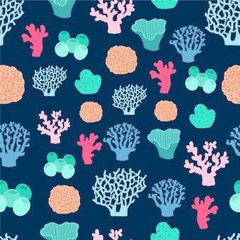 Koraal patroon marien ontwerp