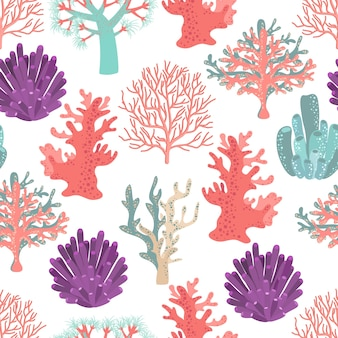 Koralen naadloze patroon.