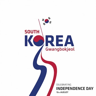 Korea independence day achtergrond ontwerp