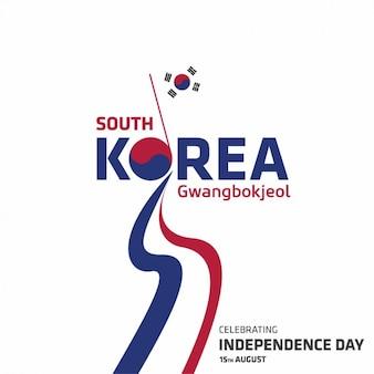 Korea independence day achtergrond ontwerp