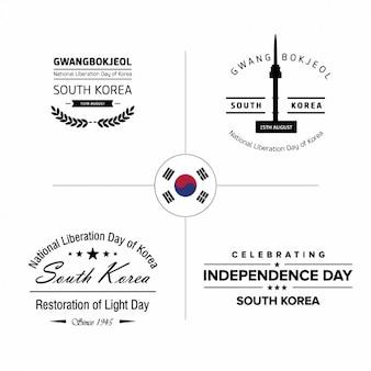 Korea onafhankelijkheidsdag badges