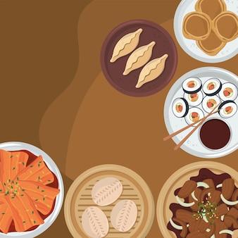 Koreaans diner eten