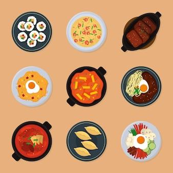 Koreaans eten set