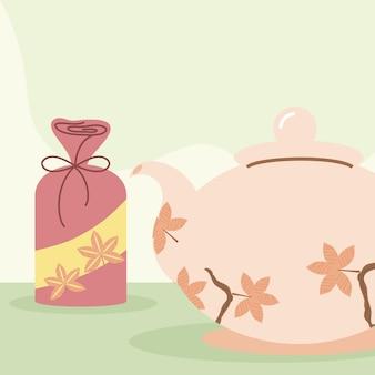Koreaans geschenk en theepot