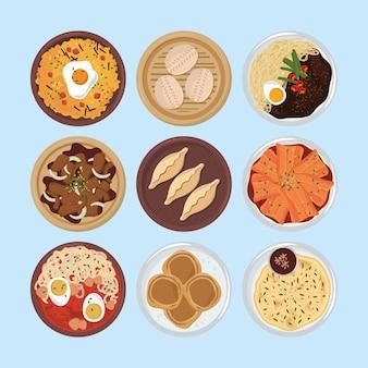 Koreaans voedselmenu