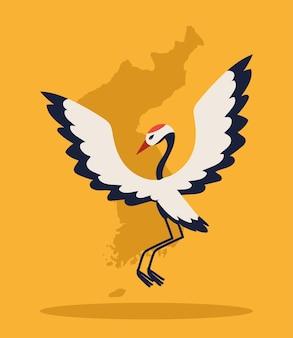 Koreaanse kaart en kraanvogel