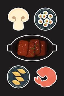 Koreaanse voedselpictogrammen