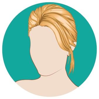 Kort blond haar voor vrouw vectorillustratie
