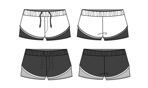 Korte broek platte schetsmat