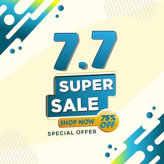 Korting 50 korting op superverkoop en speciale aanbieding winkelen zachte blauwe kleur hebben sjabloonbanner