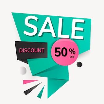 Korting banner sticker, speciale aanbieding winkelen clipart vector