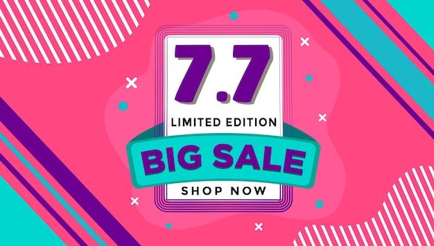 Korting grote verkoop en aanbieding winkelen sjabloon banner illustratie bacground