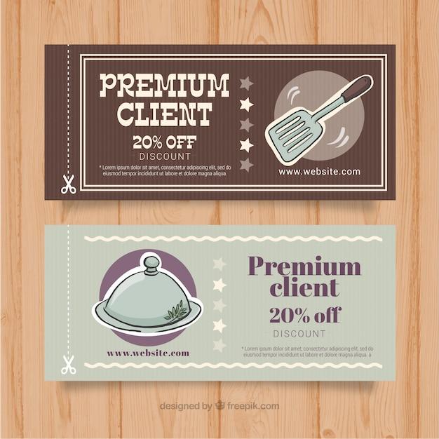 Kortingsbonnen voor premium klanten