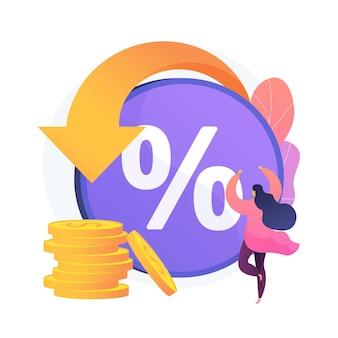 Kortingsprogramma. consumentenvoordeel, verkoopkorting, klantbeloning. online winkel, e-shopping, internetwinkel. geldbesparing, cumulatieve bonussen. vector geïsoleerde concept metafoor illustratie
