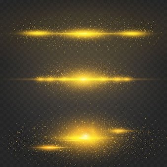 Kosmisch gouden kerstglanzend effect