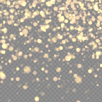 Kosmisch sprankelend stof op transparante achtergrond Premium Vector
