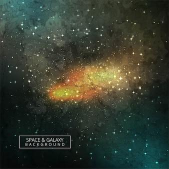 Kosmische galaxy-achtergrond met nevel, stardust en helder schijnende sterrenontwerp
