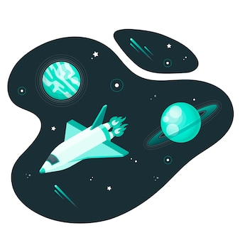 Kosmische ruimte concept illustratie