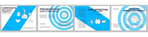 Kosteneffectieve oplossingen brochure sjabloon