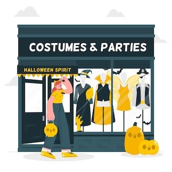 Kostuums winkel concept illustratie