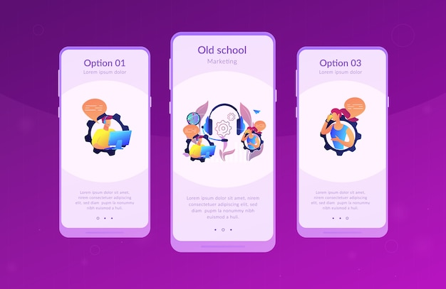 Koud bellen app-interfacemalplaatje
