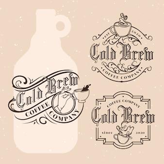 Koud brouwsel koffie etiketten ontwerpen