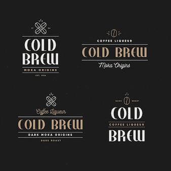 Koud brouwsel logo's concept