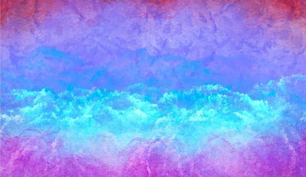Koude blauwe aquarel achtergrond