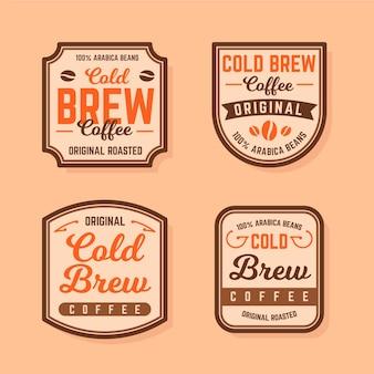 Koudgezette koffie-etiketten